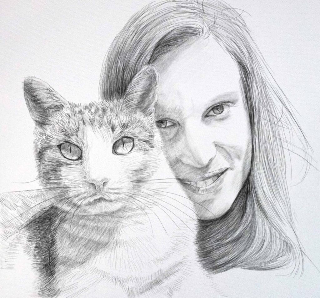 pencildrawing psychic cat-2